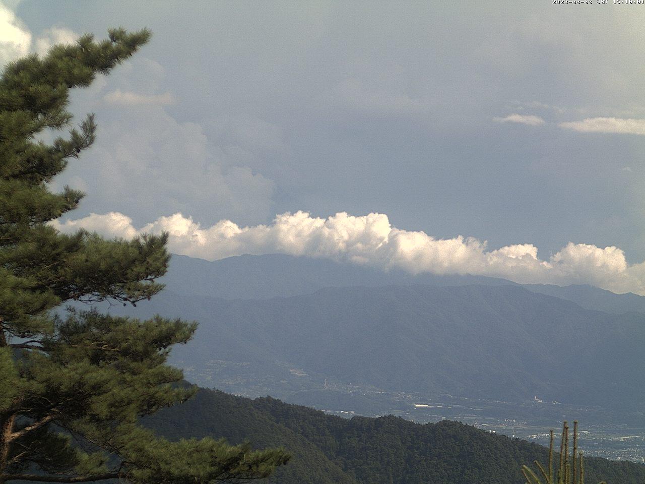 甲府盆地と富士山 ライブカメラ